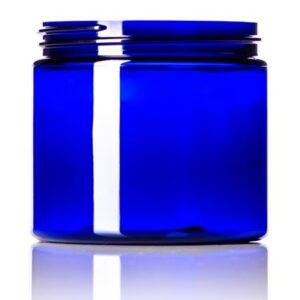 Blue PET Single Wall Jar