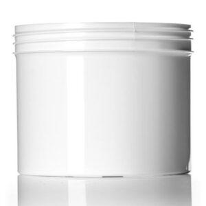 White PP Single Wall Jar
