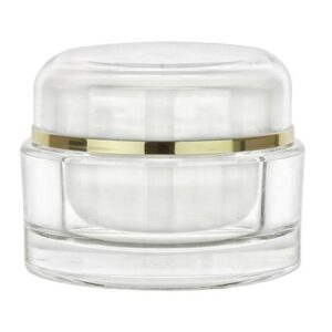 Clear/Gold Cosmetic Jar Set