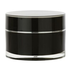 Black Cosmetic Jar Set